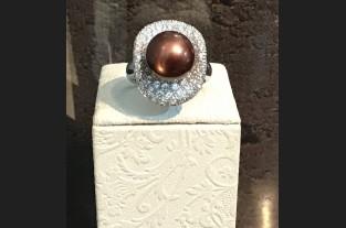 Sortija oro blanco perla